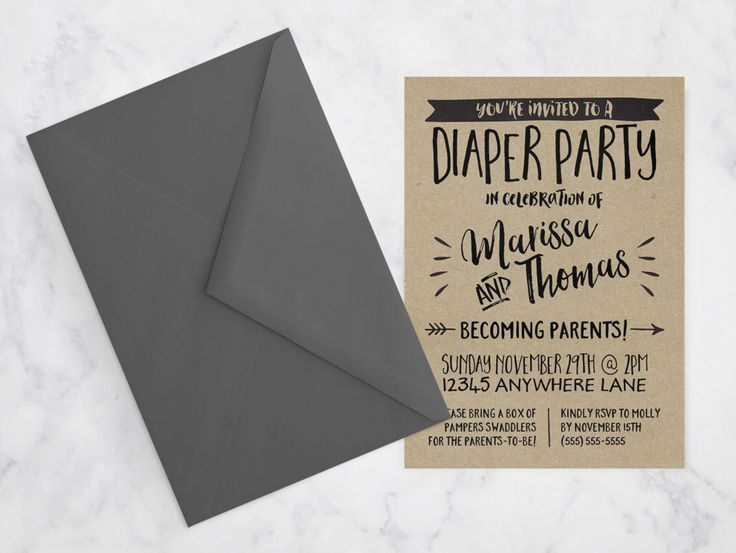 Diaper Party Invitation / Rustic Kraft Paper Couples Baby Shower Invitation / Alternative Couples Shower Invitation, Printable DIGITAL FILE by MaddieMaeCreative on Etsy https://www.etsy.com/listing/257460838/diaper-party-invitation-rustic-kraft