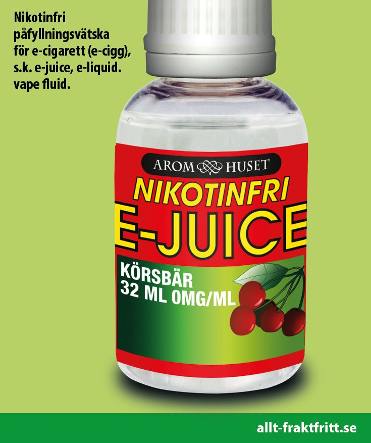 Nikotinfri E-juice Cherry 32ML