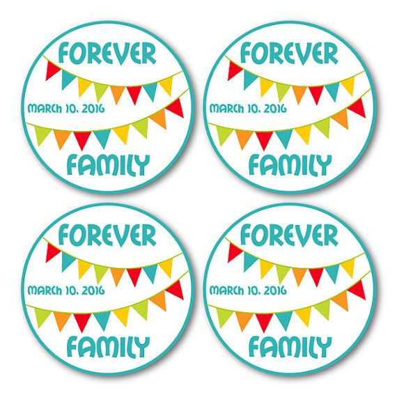 Adoption Party Tags Adoption Party Favor by PeachTreePrintables