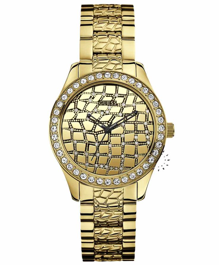 Guess Ladies Crystal Gold Plated Bracelet Η τιμή μας: 177€ http://www.oroloi.gr/product_info.php?products_id=34749