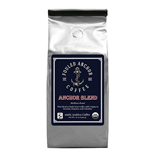 Coffee Organic Ground Arabica Bean Medium Roast Fair Trade, Great in Reusable K Cups, Kuerig Machines, Drip Coffee Makers, Bunn Coffee Machines, Pour Over Coffee, Small Batch Roasted 12 oz. bags