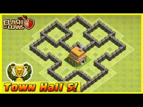 Clash of Clans - DEFENSE STRATEGY - Townhall Level 5 Trophy Base Layout (TH5 Defensive Strategies) - YouTube