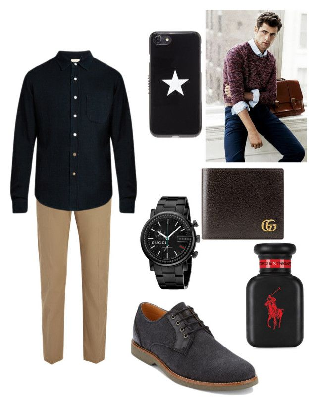 """Sean Arianas brother"" by biermann ❤ liked on Polyvore featuring Joseph, Simon Miller, Givenchy, Ralph Lauren, Gucci, G.H. Bass & Co., men's fashion and menswear"