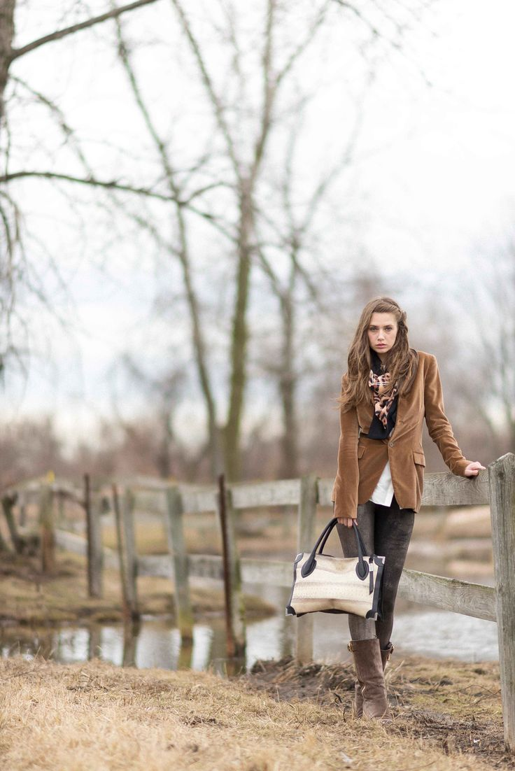 Equestrian chic with the Framed Satchel in Roccia Watersnake