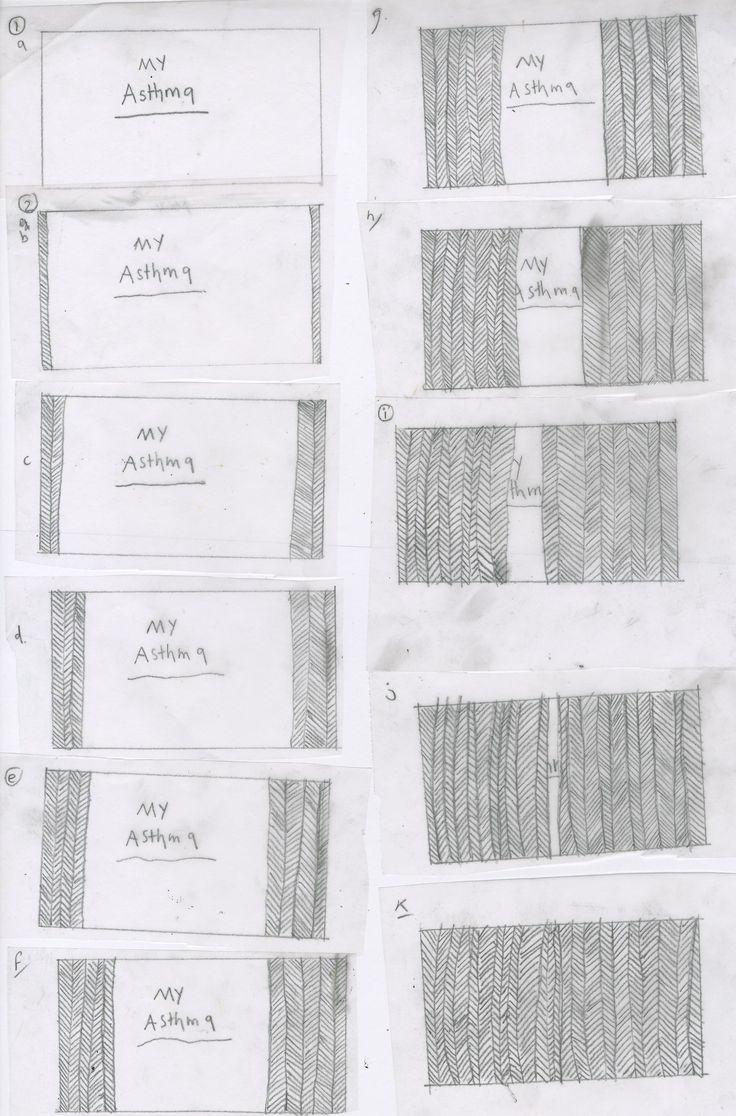 Handrawn frames- opening sequence . title asthma animation