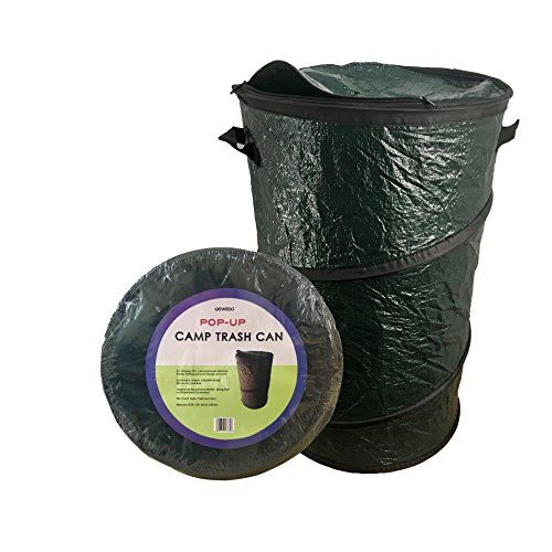 Camping Kitchen Trash Can Oswego Pop Up Collapsible Travel Camping Trash Garbage Can Dark Green 21 Gallon Clic Kitchen Trash Cans Trash Can Garbage Can