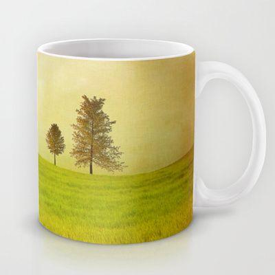Trees & shining field Mug by Viviana Gonzalez - $15.00
