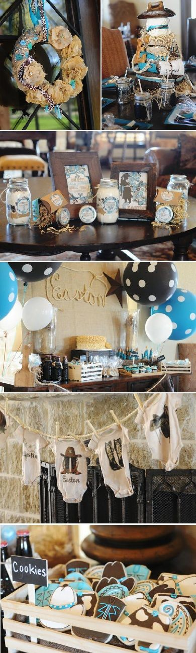Western Turquoise Baby Shower - Kara's Party Ideas - The Place for All Things Party