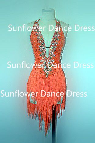 Find More Ballroom Information about Rumba Jive Chacha Latin Dance Dress,ballroom dress,dance wear, fringe latin dress ,Sunflower Dance Dress,High Quality dresses brand,China dresses for apple shape Suppliers, Cheap dress check from Sunflower Dance Dress on Aliexpress.com