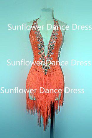 Rumba Jive Chacha dança latina vestido, Vestido de baile, Dança desgaste, Franja latina vestido, Dança do vestido
