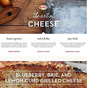 Webpick of the day - Art of Cheese by Huge Inc.