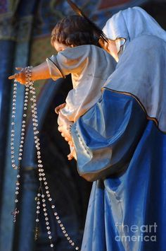 Our Lady of the Rosary, pray for us. October is Rosary month.