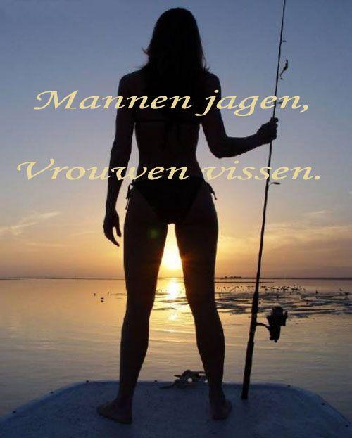 mannen jagen, vrouwen vissen