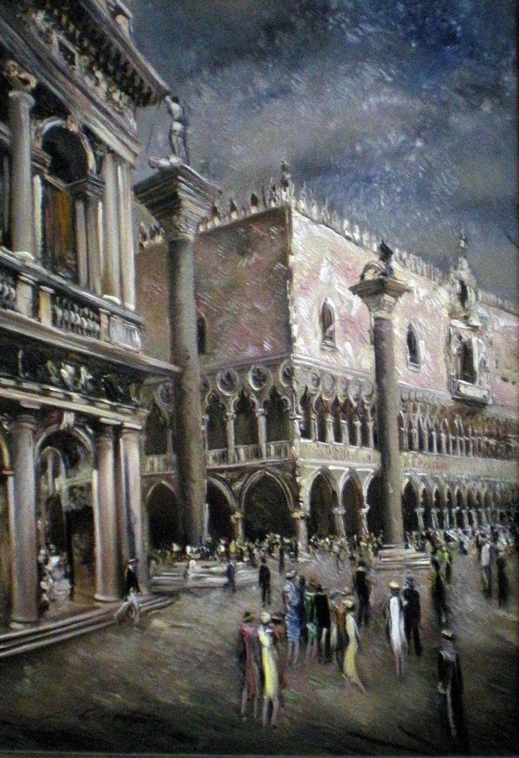 Watercolor art history - L Liberts Latvia Art Historyoil Paintingswatercolorsvenice