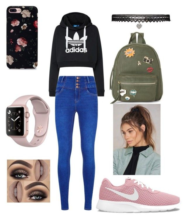 """""""Sans titre #37"""" by audree-bellefleur on Polyvore featuring mode, adidas Originals, IMoshion, NIKE, NA-KD et Betsey Johnson"""