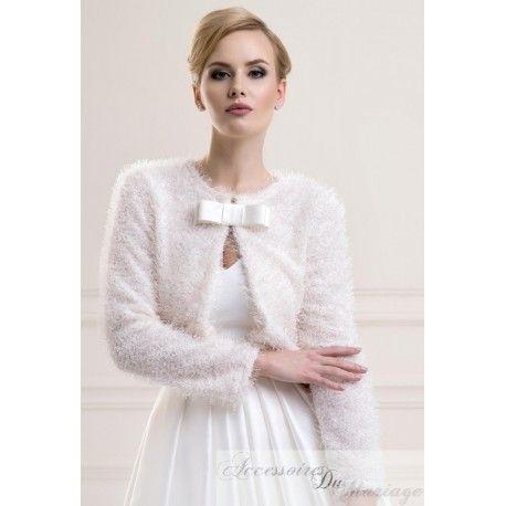 Manteau Veste étole de Mariage - tissu imitation Laine - Accessoires de la Mariée, Soirée, Cérémonie