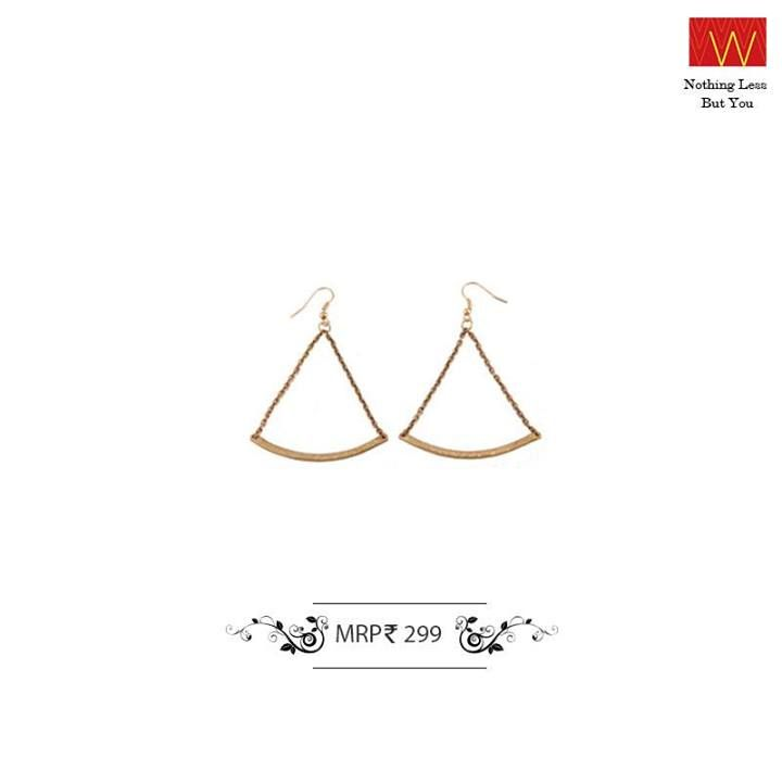 Earrings come in all sorts of shapes and sizes – what will you pair this shape with?
