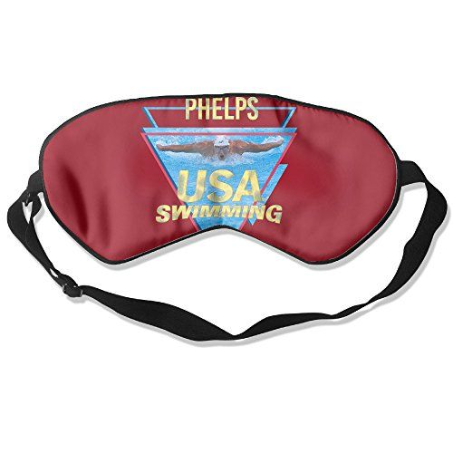 WLHZQS 2016 Rio Olympic Gold Medal Winner Michael Phelps Natural Silk Eye Mask (without Ice Bag) ** undefined
