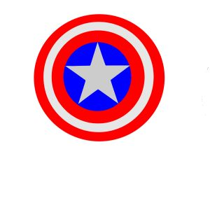 FREE Captain America Invitation Shield File - Download the PDF, PNG and SVG file for FREE. Use with your cutting machine to make awesome invitations.