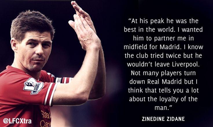 24 football stars pay tribute to Steven Gerrard/. Zidane Zidane