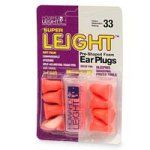 Super Leight Pre-Shaped Foam Ear Plugs - 5 pr by Howard Leight. $9.95. Noise reduction rating: 33 decibels. Soft foam construction; self-adjusts to improve ear canal fit. Reduces noise; ideal for studying, sleeping, or when using power tools. Please read all label information on delivery. Keep away from infants and small children; may get caught in windpipe. Super Leight Pre-Shaped Foam Ear Plugs - 5 pairs is for workers who need to block out loud noise demand the best protection...