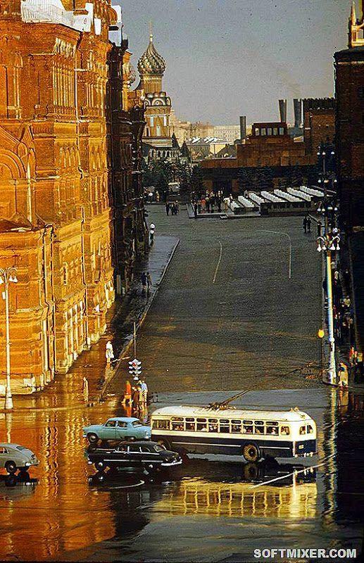 Цветные фото Москвы 1959 года | Старые фотографии, Старые ...