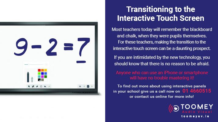 Transitioning to Interactive Touchscreens