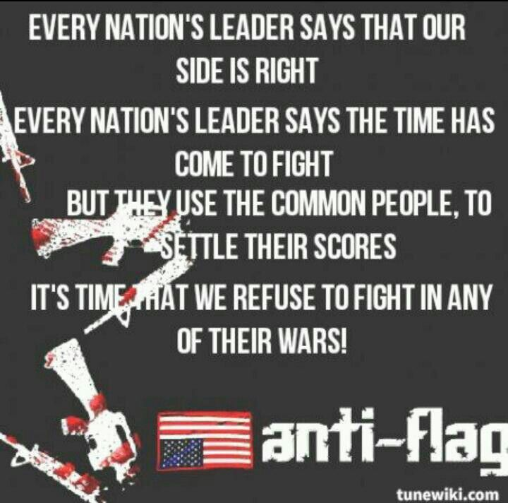 A New Kind Of Army Anti Flag Anti Flag Punk Music Flag Quote