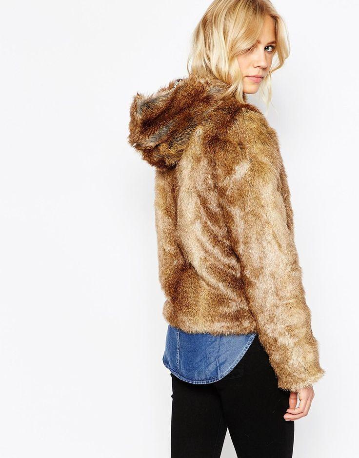 Immagine 2 di Pepe Jeans - Giacca in pelliccia sintetica con cappuccio