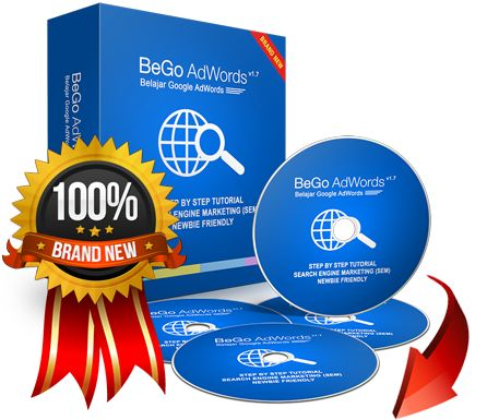 Belajar Google AdWords (BeGo AdWords) - Step by step video tutorial SEM. Diskon produk terbaru & spesial bonus.