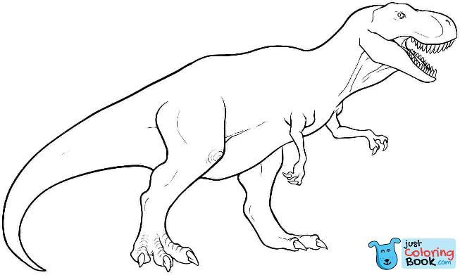 T Rex Coloring Pages To Print To Embroider Dinosaur Coloring Pertaining To Cartoon Tyrannosaur Coloring Pages