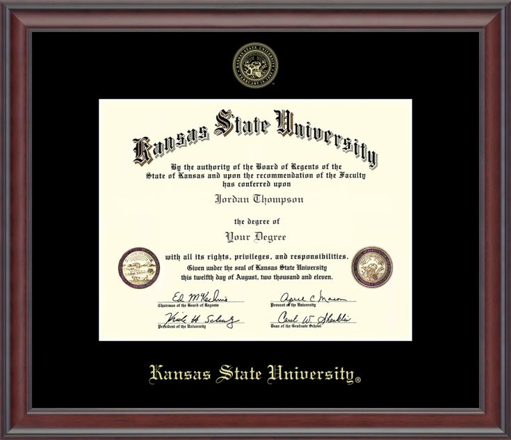 gold embossed diploma frame in studio with black mat - Diploma Framing