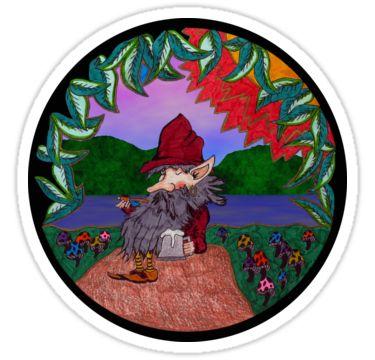Leprechaun and Ale Sticker by StickerNuts