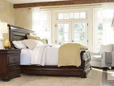 Universal Furniture Reprise Rustic Cherry Sleigh Bed Bedroom Set