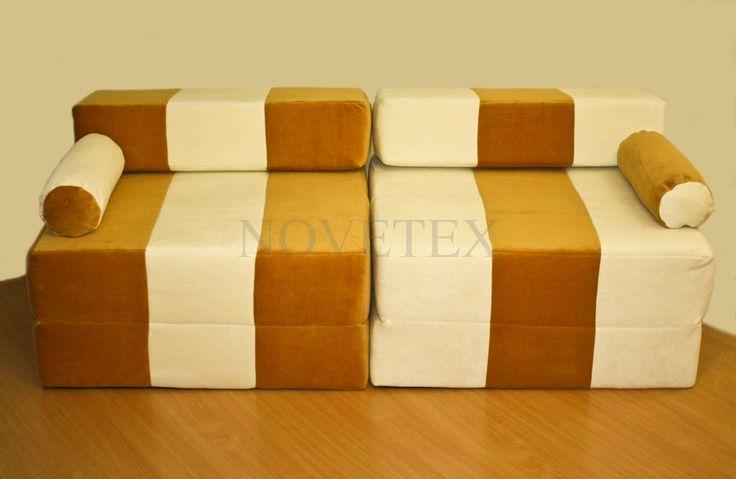 NOVETEX fotelágy karamell színben. Praktikus és mutatós kisebb belső terekben.