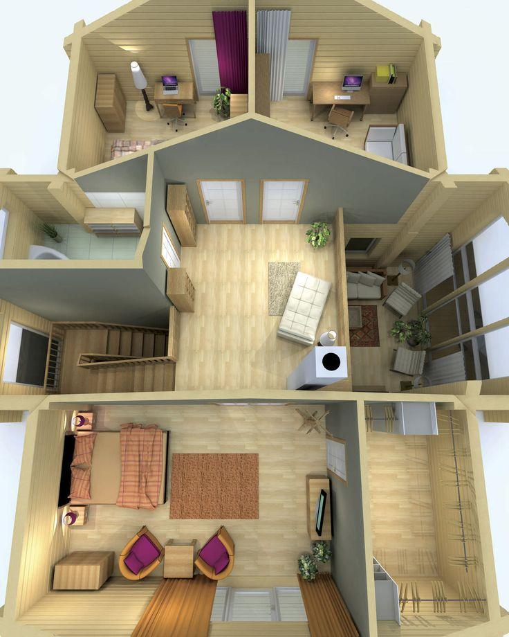 17 mejores im genes sobre casas de madera en pinterest - Casa ecologica prefabricada ...