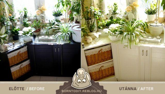 Laminált bútorok átfestése tartósan, olcsón és egyszerűen! / Low budget furniture repaint tutorial