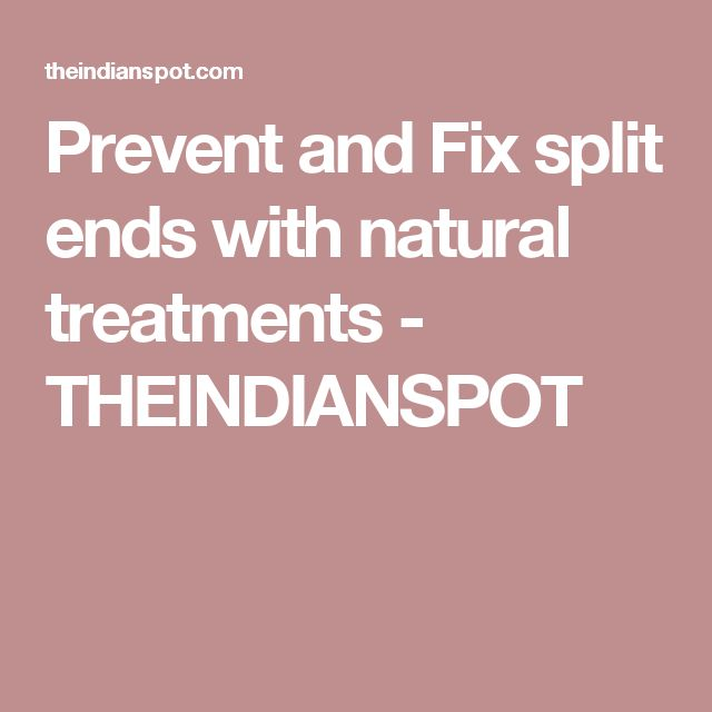 how to fix split ends on natural hair