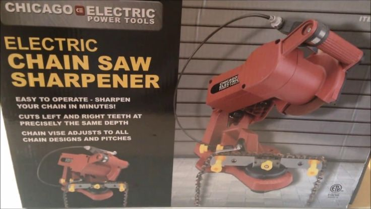 Harbor Freight Chicago Electric Chainsaw Chain Sharpener-Assembly, Insta...