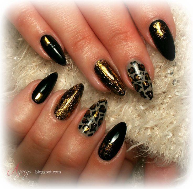 animal print, nail art, nail design