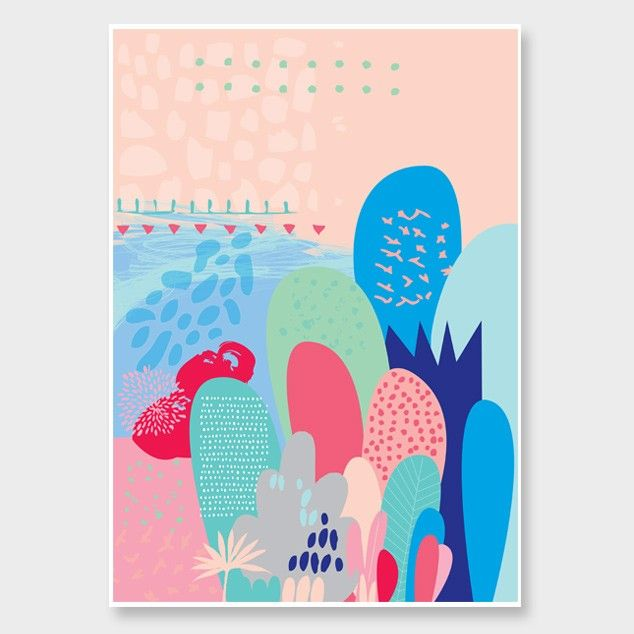 Pink Magical Forest Art Print by Cloud 9 Creative