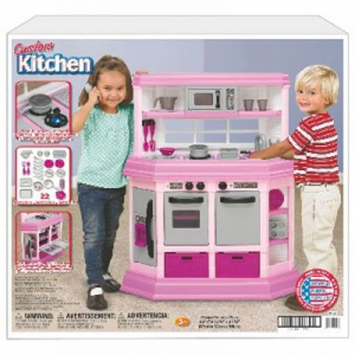 Pink Play Kitchen Dream Set House Cooking Pots Toddler Girls Toy New | eBay