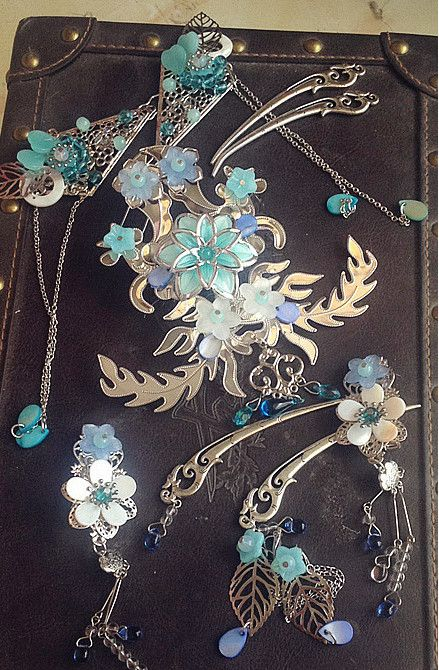 Handmade Chinese Fairy Hair Accessories Hair Ornaments Hair Pieces for Women
