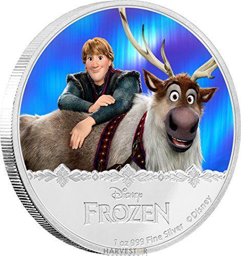 2016 NU Disney Frozen Series: Kristoff & Sven - 1 oz. Silver Proof - Fourth Coin of the Series - Brand New $2 Brilliant  @ niftywarehouse.com #NiftyWarehouse #Disney #DisneyMovies #Animated #Film #DisneyFilms #DisneyCartoons #Kids #Cartoons