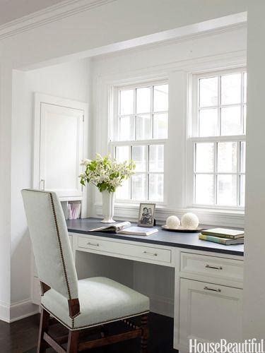 bright u0026 light desk area - White Desk