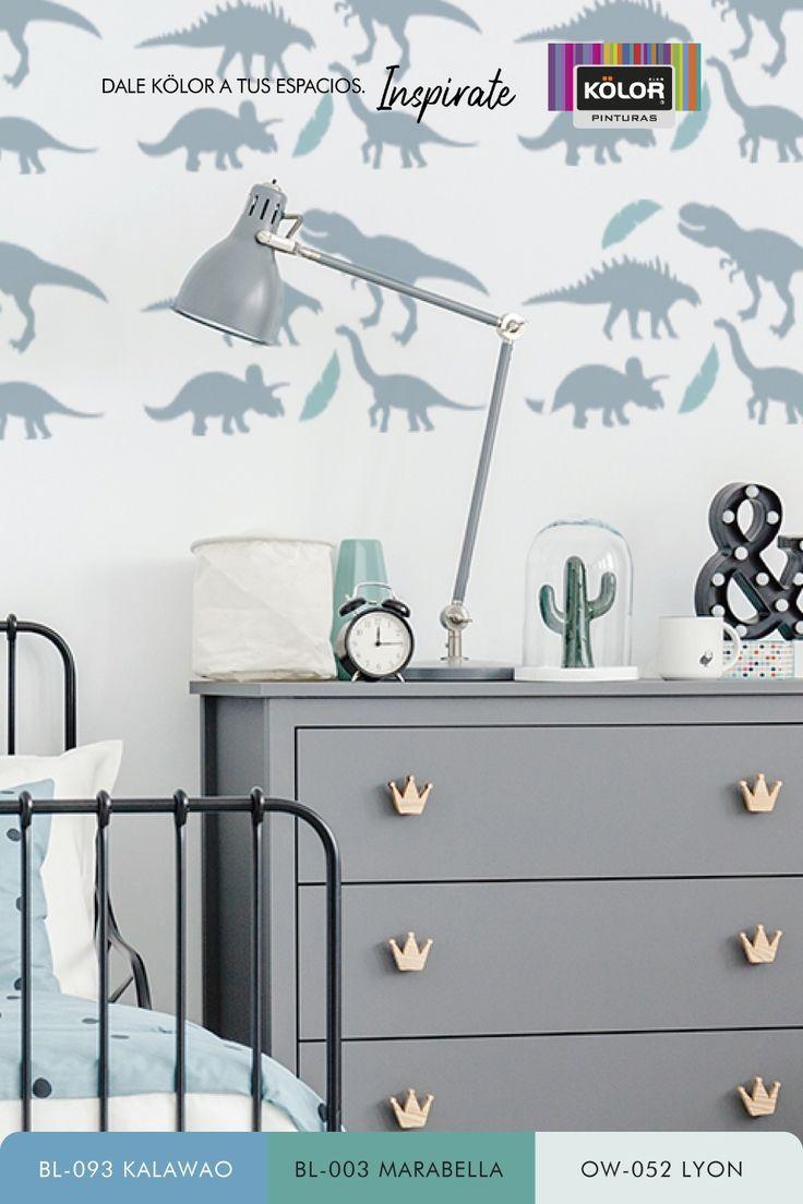 Divertite creando una habitación original para los más chicos con animales jurásicos. Descargá la plantilla para generar tu propio stencil y encontrá, además, propuestas de color para lograr la combinación perfecta. Descubrí las Pinturas Kölor y elegí entre más de 1.500 colores. Stencils, Home Decor, Boys Bedroom Paint, Bedroom Paintings, Houses, Proposals, Template, Interior Design, Animales