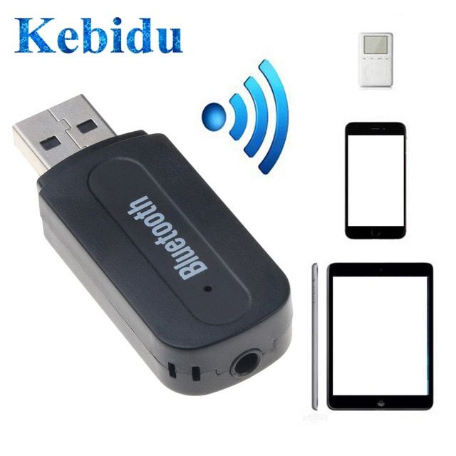 Dual Output 3.5mm Car USB Bluetooth Receiver Wireless Audio AMP Dongle Adapter