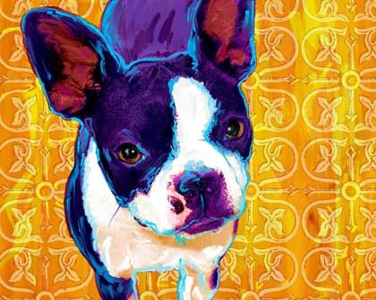 Terrier art, perfect for a Wofford dorm or office!