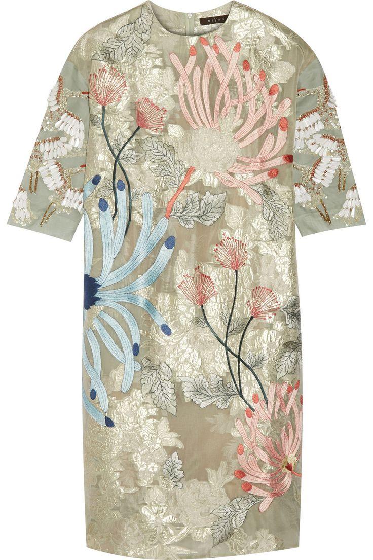 Biyan|Aleia embellished organza dress