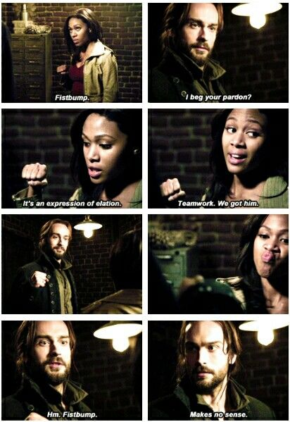 Sleepy Hollow: Ichabod v. Fistbump (gif)